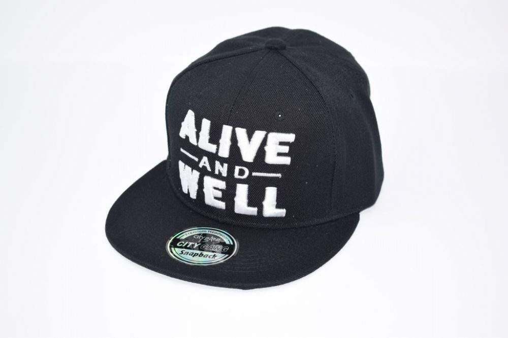 ALIVE AND WELL Snap back Cap one size fits all adjustable